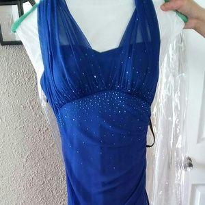 Blondie Nites Royal Blue Gown size.